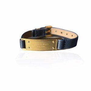 Authentic MICHAEL KORS Blue Leather ID bracelet